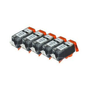 5x BLACK Ink Cartridges Canon PGI 670 XL for Pixma MG5760 MG5765 MG6865 MG7760