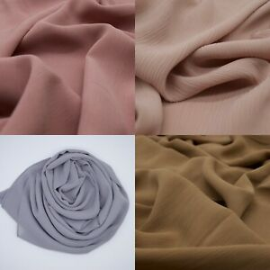 Crinkle Chiffon Hijab Scarf Elegant High Quality Sarong Shawl Wrap Plain Max