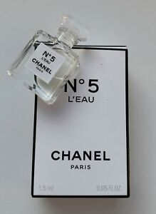 CHANEL NO 5 L'EAU eau de toilette miniature 1,5 ml micro bottle BNIB VIP GIFT