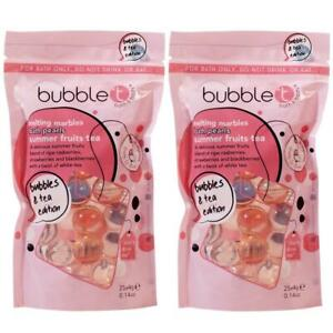2 x Bubble T Cosmetics Melting Marble Oil Bath Pearls Summer Fruits Tea, 25 Pack
