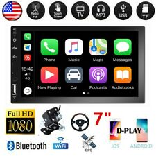 "2DIN 7"" Car MP5 Player Bluetooth Touch Screen Stereo Radio D-Play AUX +Camera"