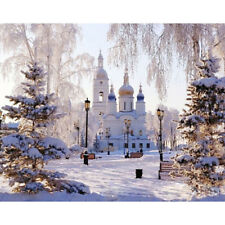 Paint By Numbers - DIY acrylic Painting Picture Art - Russian Palace in Winter