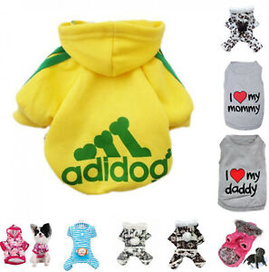 Cute Pet Dog Coat Winter Warm Casual Soft Cozy Jumpsuit Hoodie Sweater Clothes