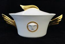 Rosenthal Versace Ikarus Medusa Meandre D'or Covered Vegetable Bowl