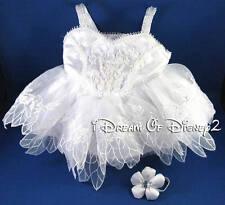 BUILD-A-BEAR WHITE SUGARPLUM FAIRY DRESS RETIRED TEDDY TUTU COSTUME CLOTHES