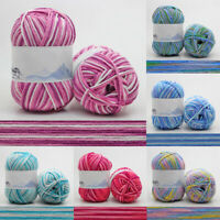 50g Cotton Balls hand Knitting Crochet colors baby Milk cotton 4Ply Chunky Yarn