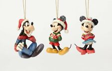 Jim Shore Disney Traditions Mickey Minnie & Goofy Hanging Ornament Set 4057961