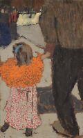 Edouard Vuillard Child Wearing A Red Scarf Canvas Art Print