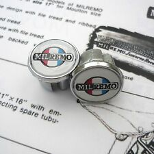 Vintage 1950s, 60s, 70s Style MILREMO, Chrome Racing Bar Plugs, Caps, Repro