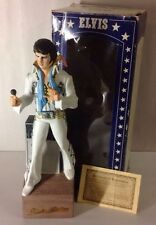 McCormick ELVIS 1977 PORCELAIN FIGURE DECANTER MUSIC BOX CERTIFICATE STATUE