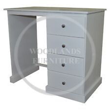 HANDMADE CAMBRIDGE 4 DRAWER DRESSING TABLE IN WHITE (ASSEMBLED)