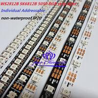 WS2812B SK6812 5050 RGB LED Strip 144led 60led 30LED/M Individual Addressable 5V