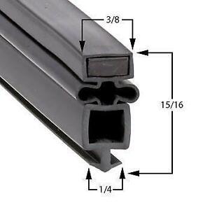 True Part# 810804 Black Door Gasket for Refrigerator / Freezer