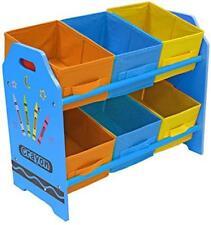 Kids Toy Storage Box Organiser Tidy Bedroom Nursery Playroom Crayon Tidy Unit UK