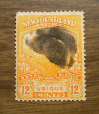 Canada - Newfoundland # 123 a stamp from 1919 - Trail of the Caribou Issue (WWI)