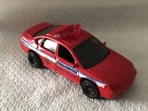 VINTAGE MATTEL MATCHBOX 2000 CHEVROLET IMPALA CAR FIRE RESCUE RED