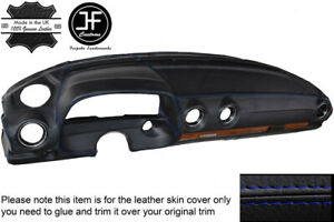 BLUE STITCH LEATHER DASH DASHBOARD LEATHER COVER FITS MERCEDES W123 1978-1985