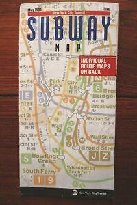 New York City Subway Map 1996 no marks: good cond