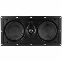 NEW Inwall Center Channel Speaker.Home Audio Theater Sound.Dual Woofers.Surround