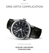 ORIS ARTIX COMPLICATION 42mm Moon Phase Steel Watch  RRP $4100 In Australia
