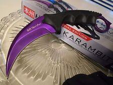 Honshu Purple Titanium Dagger Combat Karambit Claw Knife Full Tang UC2786P CSGO