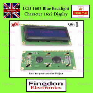 LCD 1602 16x2 Blue Character Display PCB Module HD44780 Arduino 5V DC