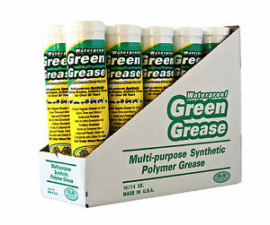 10-14 Green Grease Synthetic Waterproof Hi Temp Multi Purpose EP LASTS 8X LONGER