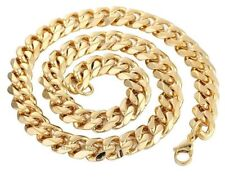 PANZERKETTE Edelstahl Gelbgold vergoldet 5 mm Kette Geschenk 40 -60 cm Halskette