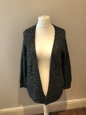 Topshop Sparkly Cardigan  Grey Size 8