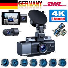 4K Dual Dash Cam Front Innen Rückseiten Autokamera IR Nachtsicht Car Recorder DE