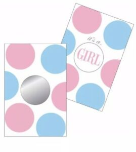 Baby Shower Surprise Gender Reveal Party Game 20 pc ITS A GIRL Scratch Off Cards