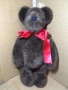 "1988-2000 Boyds Collection Plush Staffed Teddy Bear Brown  17"" Tall"