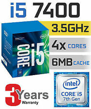 Intel Core i5-7400 3.50 GHz 6M Cache LGA1151 7th Gen Kaby Lake  Processo
