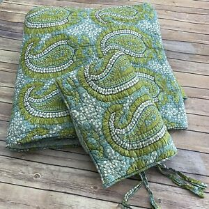 Pottery Barn Cecelia Floral Paisley Bed Quilt Full Queen & 1 Standard Sham