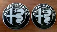 2X Alfa Romeo Embleme SCHWARZ DESIGN GUILIA 74mm für 147 156 159 Mito Guilietta