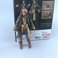 Pirates of the Caribbean 5 Captain Jack Sparrow Action Figure SHF Model PVC New