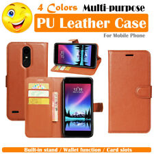 LG K20 Plus K20 V TP260 Leather Case PSC Folio Wallet Card Pouch Stand - Brown