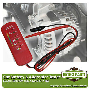 Car Battery & Alternator Tester for Kia Picanto. 12v DC Voltage Check