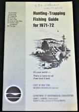 New York State Hunting Fishing & Trapping Guide Brochure 1971 Vintage