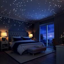 Leuchtpunkte 407 Stück Leuchtaufkleber Sternenhimmel leuchtend Schlafzimmer