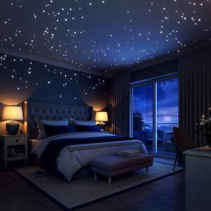 Leuchtpunkte 407 Stück Leuchtaufkleber Stickers leuchtend Wandtattoo Sterne