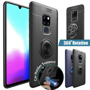 Mate 20 Pro Case Magnetic Car Mount Soft TPU Ring Holder Kickstand For Huawei