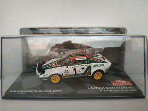 1/43 LANCIA STRATOS HF 1977 MUNARI MONTECARLO RALLYE IXO CAR ESCALA DIECAST