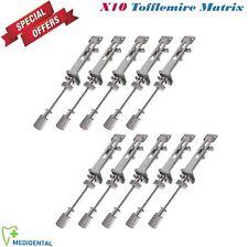 Set Of 10 Tofflemire-Matrix Band Retainer Restorative Dental Orthodontic Dentist