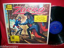Walt Disney ZORRO OST LP + Book 1968 Italy NUOVO MINT In Italiano