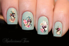 Japanese Geisha Nail Art Water Transfer Decal 22pcs ST8079