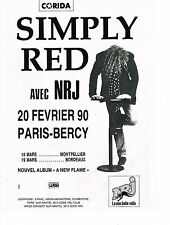 PUBLICITE ADVERTISING  1990   NRJ  radio  SIMPLY RED  en concert à BERCY