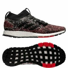 Adidas Pureboost Rebel Running Shoes Size 8.5 # F35781 Black Red
