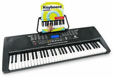 Klasse Keyboard Set mit 61 Leuchttasten, 255 Sounds, Musikschule und MP3-Player