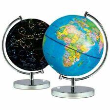 Science Kidz 2 in 1 Illuminated World Globes for Children, Light Up Night View Constellation Kids Lamp - (0702811633582)